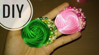 Download DIY || Cara Membuat Bros Rose Bund Mutiara 🌸 - Tutorial Bros Simple by Lista Tsurayya Video