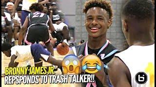 Download Bronny James Jr RESPONDS to TRASH TALKER at First Day of USBA Nationals!! Full Highlights Video