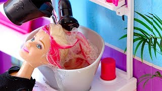Download Barbie Doll Hair Style Salon! Pretend Play with Hair Cut Shop Toys! 🎀 Video