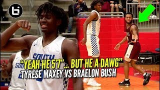 Download HEART OVER HEIGHT! 5'7″Braelon Bush VS Tyrese Maxey At Thanksgiving Hoopfest Video