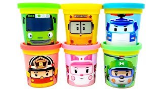 Download Tayo and Robocar Poli Play-Doh Can Heads & Toys SchoolB Poli Amber Helly Roy Video