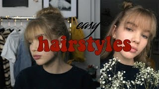Download easy hairstyles (extra cute with bangs) Video