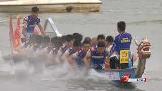 Download Moments of Dragon Boat Tournament Men's 100 Meter in China Video