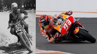 Download Evolution of MotoGP Riding Styles - From Leaning Out to Elbow Dragging Video