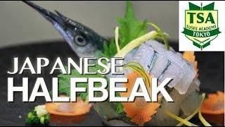 Download How to make beautiful sashimi 'Japanese Halfbeak' Tokyo sushi academy 東京すしアカデミー Video