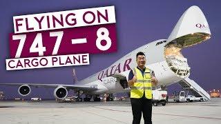 Download Flying on Qatar Airways B747-8 Cargo Plane Video