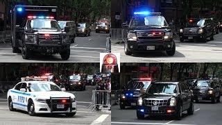 Download Massive President Trump Motorcade in New York Leaving Trump Tower - Secret Service & NYPD Police Video