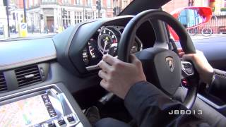 Download Crazy Lamborghini Aventador Ride - Brutal Accelerations, Downshifts and Revs in the City Video