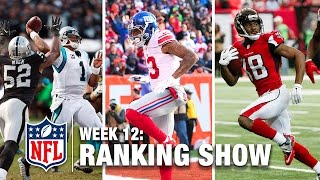 Download Week 12 Rankings Show | Top 10 Plays, Top 5 Finishes & More! | NFL Video