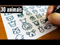 Download How to draw 30 animals cute doodle ! kawaii & easy doodle Video