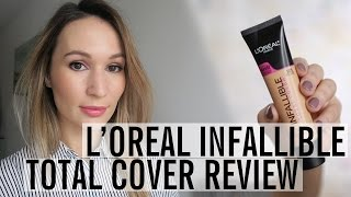 Download L'Oreal Infallible Total Cover Foundation (on combo/oily acne prone skin) | ttsandra Video