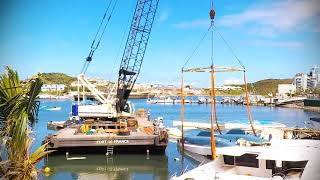 Download Salvage of boats at Oyster Pond / Sint Maarten after hurricane Irma november 2017 Video