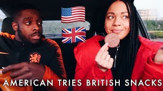 Download AMERICAN TRIES BRITISH SNACKS + First Time at Sainsbury's! Video