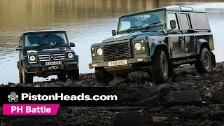 Download Mercedes G-Wagen G350d vs Twisted T40 Land Rover Defender 110 off-road   PH Battle   PistonHeads Video