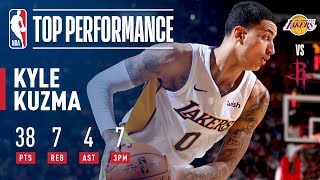 Download Rookie Kyle Kuzma Scores a CAREER-HIGH 38 Pts in Win vs. Rockets | December 20, 2017 Video