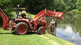 How To Get Your Kubota L3301 Tractor Out of the Mud (Un-Stuck) Free