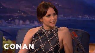 Download Felicity Jones' Very Sweaty Golden Globes - CONAN on TBS Video