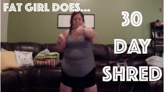 Download FAT GIRL DOES JILLIAN MICHAELS 30 DAY SHRED (again) || WatersWife Video