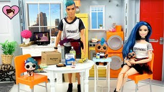 Download LOL Punk Boi Family Moves into the Barbie Dollhouse - Custom Barbie DIY & Rement Toys Video