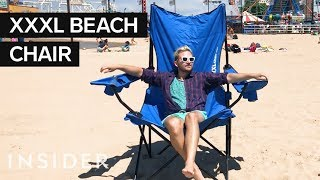 Download Super-Size Beach Chair Fits Up To 3 People Video