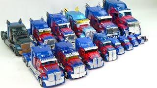 Download Transformers Movie 5 TLK & 4 AOE Blue Color Optimus Prime 15 Truck Vehicle Car Robot Toys Video