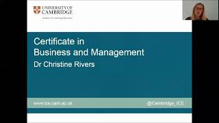 Download Dr Christine Rivers introduces the Certificate in Strategic Business and Management Video