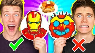 Download PANCAKE ART CHALLENGE Mystery Wheel & Learn How To Make Avengers Wreck It Ralph 2 Diy Fortnite Video