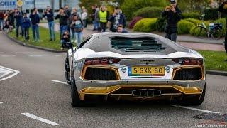 Download Supercars Leaving Car Meet - Akrapovic Aventador, 991 GT3 RS, Murcielago, Capristo R8,... Video