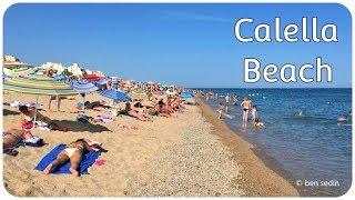 Download Calella beach, Spain Video
