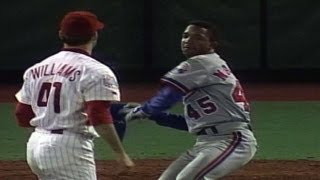 Download Pedro Martinez gets plunked and charges the mound Video