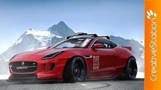 Download Jaguar F Type Virtual Tuning - Speed art (#Photoshop) | CreativeStation Video