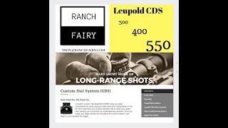 Download Leupold CDS Shooting 200-550 YARDS I Ranch Fairy Review Video