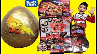 Download Disney Cars 3 Toys Giant Surprise Egg with Tomica Cars 3 Lightning Mcqueen Video