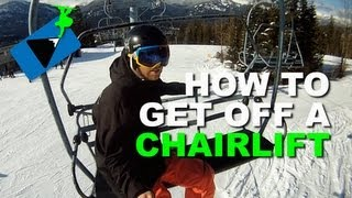Download How to Get Off a Ski Lift Snowboarding - How to Snowboard Video