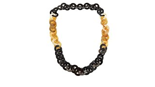 Download Natural Beauties Buffalo Horn RoloLink 36″ Necklace Video