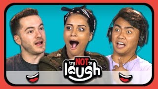 Download YouTubers React To Try To Watch This Without Laughing Or Grinning #11 Video