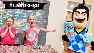 Download Hello Neighbor in Real Life Steals Our Toys! Zoops Toys Scavenger Hunt!! Video