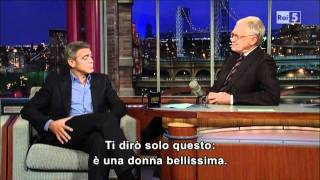 Download George Clooney al David Letterman Show Video