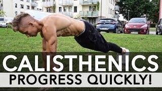 Download How to progress FAST in Calisthenics - 5 METHODS Video