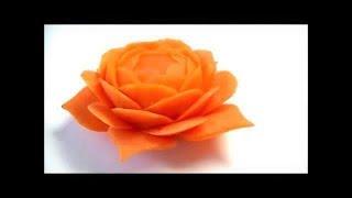 Download 人参の飾り切り 細工野菜 🌼お花の作り方🌼 キャロットカービング  Art of vegetable Carrot carving Flower How to make Garnish Video