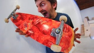 Download THE PIZZA SKATEBOARD! | YOU MAKE IT WE SKATE IT EP 68 Video
