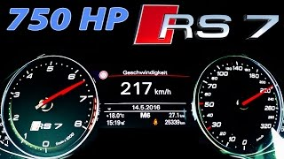Download Audi RS7 Acceleration 0-250 Launch Control V8 Sound MF-RS 750 Video