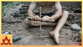 Download Primitive Technology: Cord drill and Pump drill Video