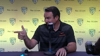 Download 2018 Pac-12 Football Media Day: Oregon State's Jonathan Smith podium session Video