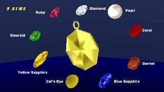 Download Lucky 9 Gems (Nine Gems) / Navaratna 3D Animation Part 1 Video