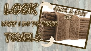 Download LOOK what I do with these TOWELS | $5 QUICK & EASY DIY Video