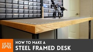 Download Steel framed standing desk (electronics station) // How-To Video