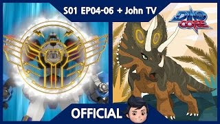 Download [DinoCore] S01 & John TV | Level 5 Union! Ultra D-Buster! Saber's Speed! | Pentaceratops | EP04-06 Video