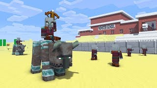 Download THE PILLAGER IS RAIDING MONSTER SCHOOL - Minecraft Animation Video