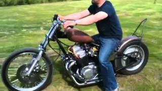 Download Honda CB750 chopper bobber cb 750 with open drag exhaust. Video